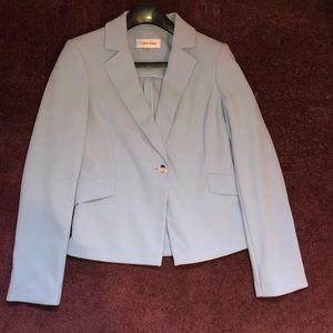 Calvin Klein blue suit jacket-never worm size 6